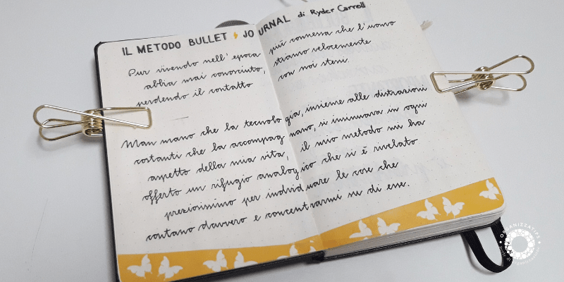Che cos'è il Bullet Journal