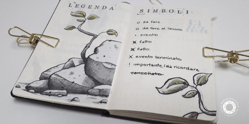 Bullet Journal: le annotazioni rapide e simboli