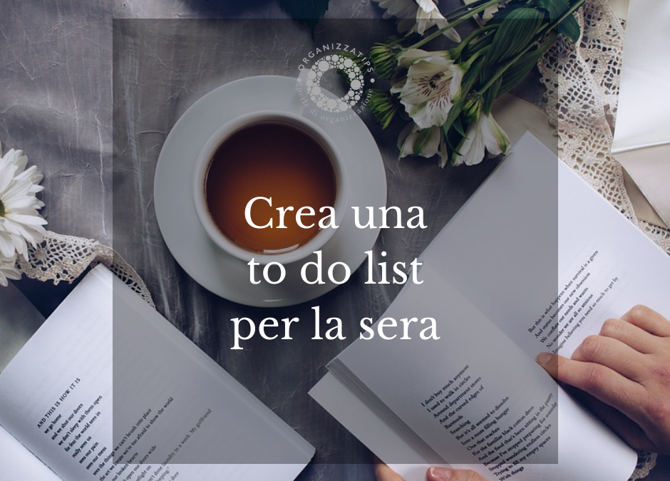 23 ottobre: crea una to do list per la sera